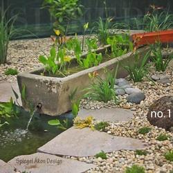 Víz, kerti csobogó, kerti tó